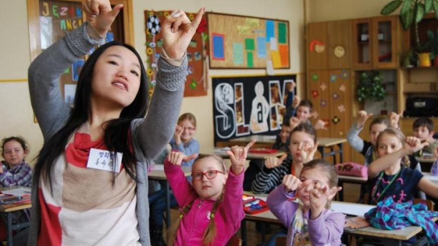 Wizyta zagranicznych studentek w Zespole Szkół w Nekli