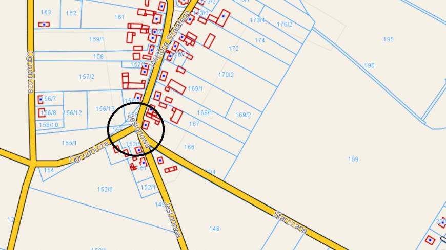 Zamknięcie skrzyżowania i ulicy Jesionowej w Starczanowie